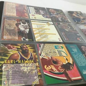 Mid 1990's Basketball Trading Cards Collection w/ Collector Booklet