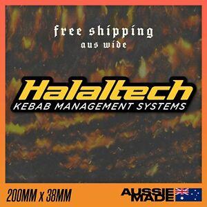 Halaltech Sticker Vinyl Decal - Haltech ECU Halal Tech JDM Funny Kebab 200x38mm