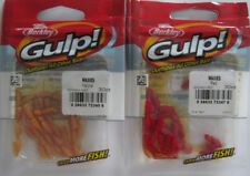 2 - BERKLEY GULP!  Waxies (30/Pk) - Natural & Red