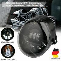 70W LED Scheinwerfer Fern-Abblendlicht Nebelleuchte Blinker für Harley V-Rod