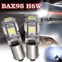 2x BAX9S H6W 5 LED Ampoule Veilleuse Feux Stop 12V 6000K Canbus Anti Erreur Auto