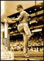 Corey Seager 2020 Topps Short Print Variations 5x7 Gold #620 /10 Dodgers