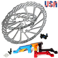160/180/203mm MTB Bike Disc Brake Rotor Bike IS Brakes Adapter Caliper 180/203mm