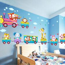 Nursery Baby Cartoon Animal Monkey Lion Tree Wall Stickers Decor for Kids Room