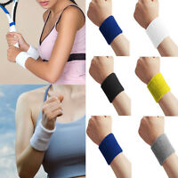 Sports Basketball Unisex Cotton Sweatband Wristband Sweat Wrist Band Gym Yoga