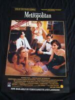 METROPOLITAN movie poster WHIT STILLMAN original video promo 1990