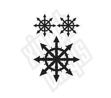 3 x Pegatina Calcomanía Vinilo Conjunto De Estrella Caos Novedad Coche Firmar Warhammer Ventana 40k