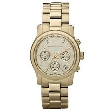 Michael Kors MK5055 Runway Gold Mid-Size Chronograph 38MM NEW AUTHENTIC