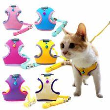Pet Harness Vest Leash Adjustable with Bell Walking Leash Kitten Puppy
