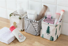 Cute Storage Bins, Foldable Small Canvas Storage Baskets Organizers Mini