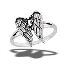 Sterling Silver Angel Wings Ring - Free Gift Packaging