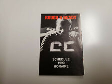 RS20 Ottawa Rough Riders 1990 CFL Football Pocket Schedule - Miller Lite