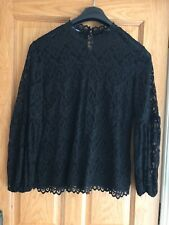 Taifun Black Lace Top Size 18 New Without Tags!