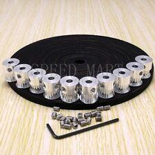 10 x GT2 Timing Pulley 5mm Bore 10mm width & 10m Belt for RepRap 3D Printer