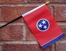 TENNESSEE flag PACK OF TEN SMALL HAND WAVING FLAGS Nashville Memphis USA U.S.A.