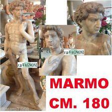 STATUA DAVID IN VERO MARMO ROSA PORTOGALLO SCULTURA CM180-STATUE MARBLE