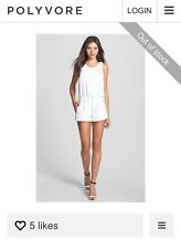 6Shore Road Open Back Romper Playsuit White XS ~ NWT  Revolve Sold Out! Reg $136