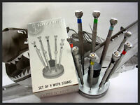 Jewelers Screwdriver Set 9pc with Stand Swiss style watch makers tools USA ships
