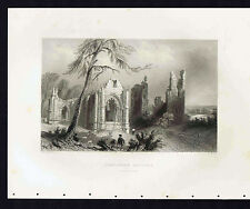 SCOTLAND, LINCLUDEN COLLEGE, DUMFRIES-SHIRE - 1839 Steel Engraving