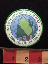 Vtg 1985 Girl Scouts Of USA International Youth Year Patch C76M