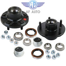 Set of 2 Trailer Idler Hub Kits With Bearing 5 on 5 For 3500 lbs Trailer Axle