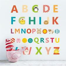 A-Z Animal Alphabet Letters Removable Wall Sticker Kids Boy Girl Decor Nursery B