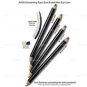 Avon Outstanding Eyes Dual Eyeliner Midnight Shimmer~ Free P&P Same Day Dispatch