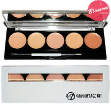W7 CAMOUFLAGE KIT Cream Contour Concealer Palette with brush and mirror 5 SHADES