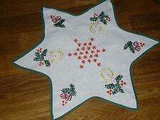 Alte  Weihnachtsdecke Sternform  40 cm /  40 cm Handarbeit  Shabby Chic Vintage
