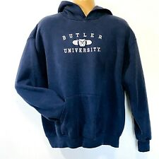 Vintage Jansport Hoodie Butler University Bulldogs L Blue Embroidered Spellout