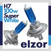 H7 100W SUPER WHITE XENON HALOGEN HEADLIGHT BULBS HID 477 499 MAIN DIPPED 12V