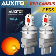 AUXITO 3157 3047 3057 3156 Red LED Bulb Brake Stop Tail Light Error Free 2800LM