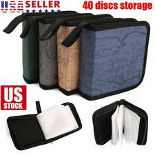 40 CD DVD Disc Storage Carry Case Bag DJ Holder Hard Box Portable Organizer USA