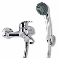 vidaXL Bath Shower Mixer Tap Kit Chrome Showerhead with Hook 1.4m Hose Fixture