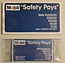 Vintage 1967 MOBIL Safety Pays Game Booklet & 4 Stamp Books Rare NOS -- 2533