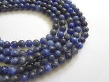 "6mm Round Natural Sodalite Semi Precious Gemstone Beads - 15"" Strand"