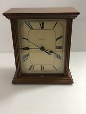 Hudson Clock Walnut Shelve Clock Roman Numeral Wood Removable Back Collector