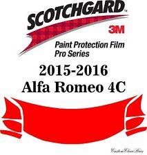 3M Scotchgard Paint Protection Film Pro Series Pre-Cut 2015 2016 Alfa Romeo 4C