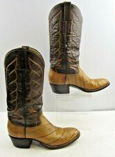 Ladies Renegade Brown Eel Skin Round Toe Western Cowboy Boots Size: 8B
