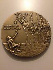 SALVADOR DALI ART signed MINT  medallion solid bronze rare!