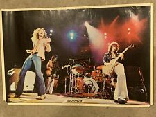 LED ZEPPELIN 1978 LIVE CONCERT SHOT VINTAGE POSTER By Robert Failla Very Good Co