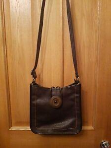 Ladies Vintage Style Soft Leather Shoulder/Messenger Bag Purple