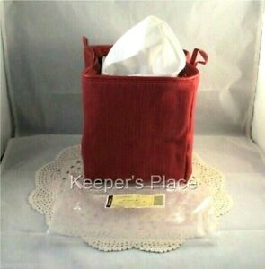 Longaberger Paprika Tissue Kleenex Small Sort & Store Holder New Tag