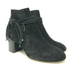 Rag & Bone Dalia II Black Suede Ankle Boot size: US 8 EU 38