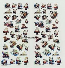 62 FATHER CHRISTMAS STICKERS-HOLOGRAPHIC-SANTA-XMAS-SPARKLE-TRAIN-REINDEER-MOPED