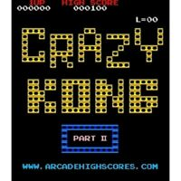 Crazy Kong II Free Play and High Score Save Kit Arcade