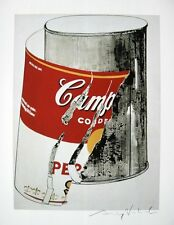 ANDY WARHOL HAND SIGNED SIGNATURE * BIG TORN CAMPBELL'S SOUP *  PRINT  W/ C.O.A.