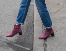 BNWT Zara Rosa Brillante Glitter Sock Stivaletti UK 3 EUR 36