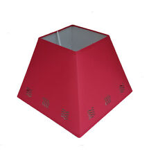 35.6cm Vague pochoir Lampe Plafonnier suspendue abat-jour de lampe rouge