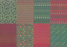 Motiv-Kartenpapier/Karton-TKK 12-verschiedene Muster mit Glimmer-ca.260g -A5